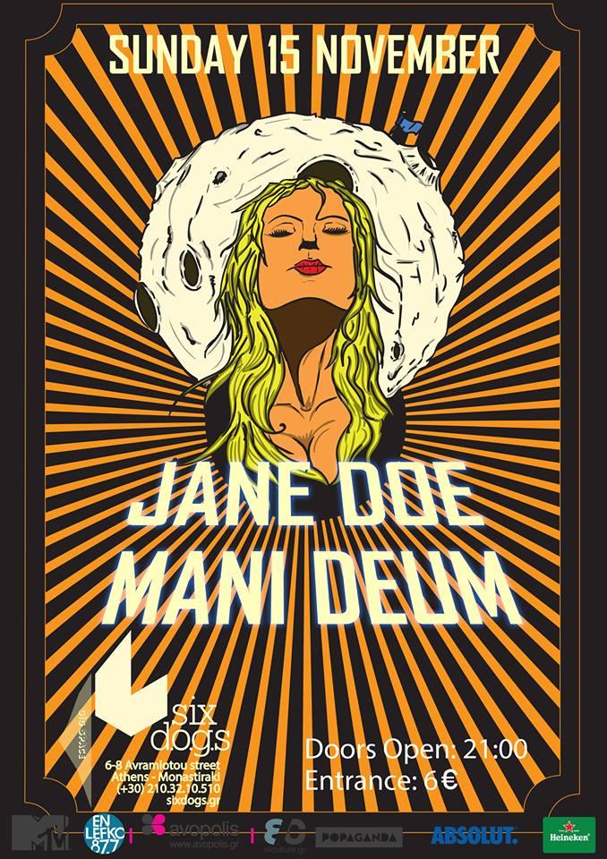 15/11/2015 Jane Doe & Mani Deum live @ Six Dogs