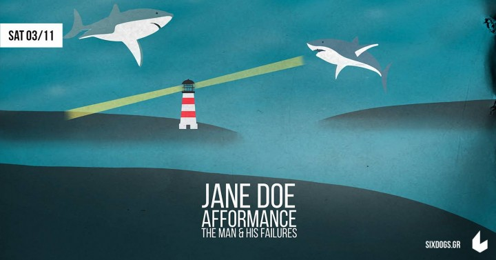 3/11/2018   Jane Doe (μαζί με Afformance και The Man & His Failures) @ Six Dogs